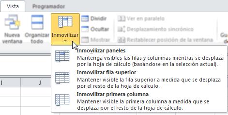 Fijar Las Primeras Filas Columnas En Excel Excel Avanzado